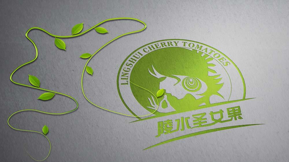 陵水圣女果标志、包装设计